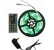 5M 300x2835LED Strip Light Sets Waterproof RGB 44 key controller AC100-240V AU / EU / US / UK Power Plug  DC12V 2A
