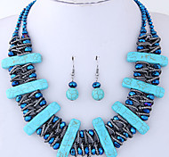 cheap -Women's Jewelry Set Resin Alloy Geometric Casual European Party 1 Necklace Earrings Costume Jewelry