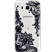 cheap -Case For Samsung Galaxy J5 (2017) J3 (2017) Transparent Pattern Embossed Back Cover Lace Printing Soft TPU for J7 (2016) J5 (2017) J5