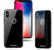 cheap -Case For Apple iPhone X iPhone 8 Plus Shockproof Back Cover Solid Color Hard Tempered Glass for iPhone X iPhone 8 Plus iPhone 8 iPhone 7
