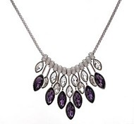 cheap -Women's Drop Synthetic Amethyst Crystal Pendant Necklace  -  Classic Fashion Silver Necklace For Party Daily