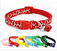 cheap -Cat Dog Collar Portable Breathable Foldable Animal Print Nylon Black Red Blue