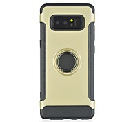 Case For Samsung Galaxy Note 8 Shockproof Ring Holder Back Cover Solid Color Armor Hard PC for Note 8