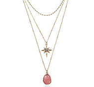 cheap -Women's Geometric Metallic Fashion Pendant Necklace Chain Necklace Resin Alloy Pendant Necklace Chain Necklace , Gift Street
