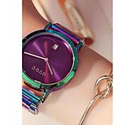 preiswerte -Damen Armbanduhren für den Alltag Modeuhr Einzigartige kreative Uhr Chinesisch Quartz Kalender Chronograph Wasserdicht Edelstahl Band
