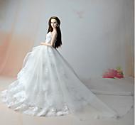 Недорогие -Платье-корсет Платье Для Кукла Барби Белый Платья Для Девичий игрушки куклы