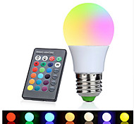 1set 3W E27 LED Globe Bulbs 1 leds High Power LED Decorative RGB 350-380lm 2700-6500K AC 85-265V