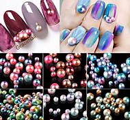 Недорогие -1 Украшения для ногтей Круг Мода Милый Милый стиль Высокое качество Повседневные Дизайн ногтей