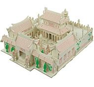 Недорогие -3D пазлы Пазлы Модель дерева Наборы для моделирования Лошадь 3D Храм Шаолинь Для детской Горячая распродажа Дерево Домики Мода новый