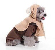Недорогие -Собака Костюмы Одежда для собак Стиль Новогодняя тематика Черный Кофейный Коричневый Красный Синий Костюм Для домашних животных