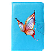 cheap -Case For Full Body Cases Tablet Cases Pattern Butterfly Hard PU Leather for