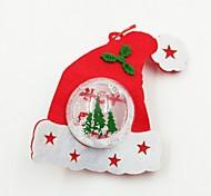 Hat Plastic Ball Non-Woven Fabric Christmas Ornament