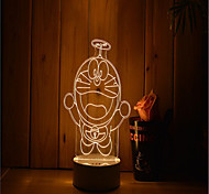 1 Set Of Decorative Acrylic 3d Night Light LED Bedroom Lamp Mood Lamp, Hand Scanning, Dimming, Color Change, 3W, Machine Cat