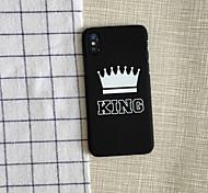 Недорогие -Кейс для Назначение Apple iPhone X iPhone X iPhone 8 iPhone 8 Plus Защита от удара Чехол Композиция с логотипом Apple Мягкий ПК для