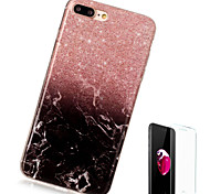 Case For Apple iPhone X iPhone 8 Plus Pattern Back Cover Marble Soft TPU for iPhone X iPhone 8 Plus iPhone 8 iPhone 7 Plus iPhone 7