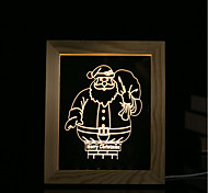 cheap -1 Set Of 3D Mood Night Light LED Lights USB Bedroom Photo Frame Lamp Gifts Santa Claus