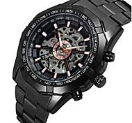 Недорогие -WINNER Муж. Модные часы Нарядные часы Наручные часы С автоподзаводом С гравировкой Нержавеющая сталь Группа На каждый день Черный Розовое