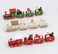 cheap -4 PCS/Set Christmas Gift Wooden Train Home Decoration Children Gift 20*4.5*3cm