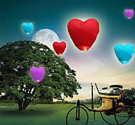 Недорогие -10шт в форме сердца kongming небо летающих фонарей огонь свет желающих лампы свадьбы