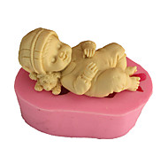 cheap -Mold Sleeping Baby For Pie For Cookie For Cake Silicone Eco-friendly High Quality 3D