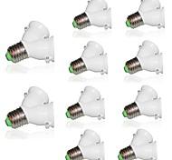 cheap -10pcs Lamp Holder Converter Socket Conversion with Fireproof Material E27 to 2 E27 Bulb Base type 2E27 Y Shape Splitter Adapter 220-240V