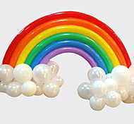 cheap -Rainbow Balloon Set Birthday Party Wedding Decor (20 Long Balloon, 16 Round Ballon