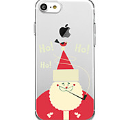 Case For Apple iPhone 8 iPhone 8 Plus Pattern Back Cover Cartoon Christmas Soft TPU for iPhone X iPhone 8 Plus iPhone 8 iPhone 7 Plus