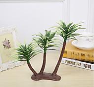 Недорогие -13см 4 шт. Домашнее украшение мини-искусственные пластиковые кокосовые пальмы