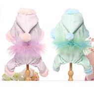 Недорогие -Собака Комбинезоны Одежда для собак На каждый день Тонкая прозрачная ткань Лиловый Зеленый Костюм Для домашних животных