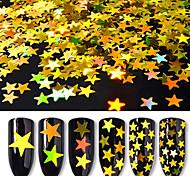 Недорогие -1pcs Украшения для ногтей Порошок блеска Пайетки Классика Глянцевые Лазерная голографическая Высокое качество Повседневные