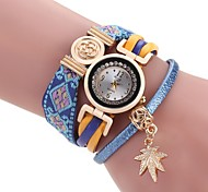 cheap -Women's Bracelet Watch Chinese Quartz Fabric Band Vintage Casual Bohemian Black Blue Orange Brown Purple