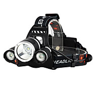 Headlamps Bike Lights Headlight LED 5000 Lumens 2x18650 4 Mode 3 X Cree XM-L T6 Rechargeable Waterproof Camping/Hiking/Caving Everyday