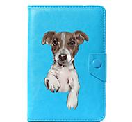 Недорогие -Кейс для Назначение Чехол планшетный случаи Однотонный С собакой Твердый Кожа PU для