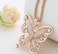 cheap -Women's Pendant Necklace Chain Necklace - Vintage Elegant Butterfly Pink Necklace For Gift Daily