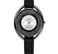 cheap -Women's Quartz Wrist Watch Japanese Metal Band Black Silver
