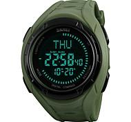 Недорогие -Муж. Наручные часы электронные часы Спортивные часы Японский Цифровой Будильник Календарь Секундомер Защита от влаги Компас Хронометр