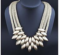 Жен. Заявление ожерелья Овальной формы Резина синель Массивные украшения Бижутерия Назначение Повседневные Свидание
