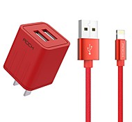 cheap -Portable Charger Phone USB Charger US Plug Fast Charge Charger Kit 2 USB Ports 2.1A AC 100V-240V For iPad For iPhone