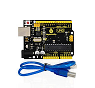 cheap -1Pcs Keyestudio UNO R3 Board(Original Chip) 1Pcs USB CableManual 100% Compatible for Arduino Uno R3