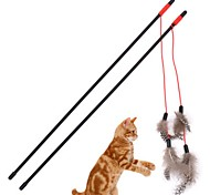 cheap -Cat Wand Toys Cat Feathers Cat Teasers Decompression Toys Plastic For Cat Kitten