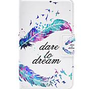 Недорогие -Кейс для Назначение SSamsung Galaxy Tab A 7.0 (2016) со стендом С узором Авто Режим сна / Пробуждение Чехол  Перья Твердый Кожа PU для