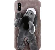 Недорогие -Кейс для Назначение Apple iPhone X iPhone 8 iPhone 8 Plus iPhone 7 iPhone 7 Plus iPhone 6 iPhone 6 Plus Своими руками болотистый Задняя