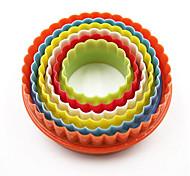 Недорогие -6 шт. / Комплект 6 размеров круглые формы для выпечки пластиковые формы для печенья кухонные инструменты для выпечки