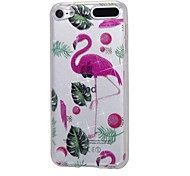 cheap -Case For Apple Ipod Touch5 / 6 Case Cover High Penetrating Powder IMD Flamingo Soft TPU Phone Case