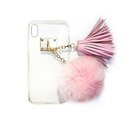 cheap -For iPhone 7 Plus Luxury Rabbit Hair Ball Tassel Pendant TPU Cases for iPhone 6s 6 Plus SE 5s 5
