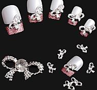 10 pièces en argent sterling super brillant décorations pour ongles