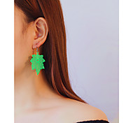 cheap -Women's Drop Earrings , Oversized Fashion Plastic Leaf Jewelry Daily Carnival Costume Jewelry
