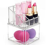 cheap -Cosmetic Box Others Makeup Storage Transparent Fashion Quadrate Plastics