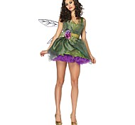cheap -Fairytale Tinker Bell Christmas Dress Kid Christmas Halloween Festival / Holiday Halloween Costumes Green Christmas
