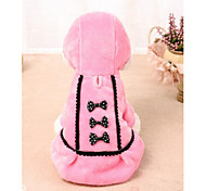 Cat Dog Dress Dog Clothes Dresses&Skirts Casual/Daily Bowknot Pink Black Costume For Pets